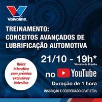 Valvoline promove curso online gratuito sobre lubrificação